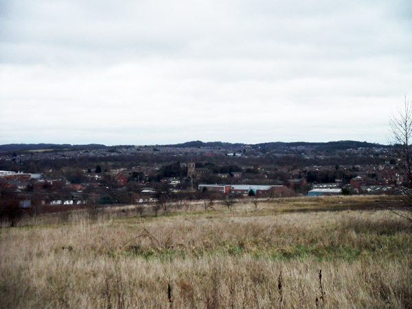 View from Stanton Tip towards Bulwell, Rise Park and Top Valley